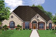 European Style House Plan - 4 Beds 2.5 Baths 2485 Sq/Ft Plan #62-128 Exterior - Front Elevation