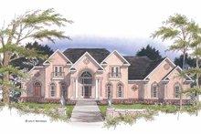 Adobe / Southwestern Exterior - Front Elevation Plan #952-177
