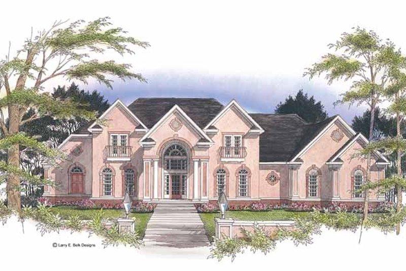House Plan Design - Adobe / Southwestern Exterior - Front Elevation Plan #952-177