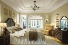 House Plan Design - Mediterranean Interior - Master Bedroom Plan #938-25