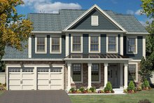 Colonial Exterior - Front Elevation Plan #316-279