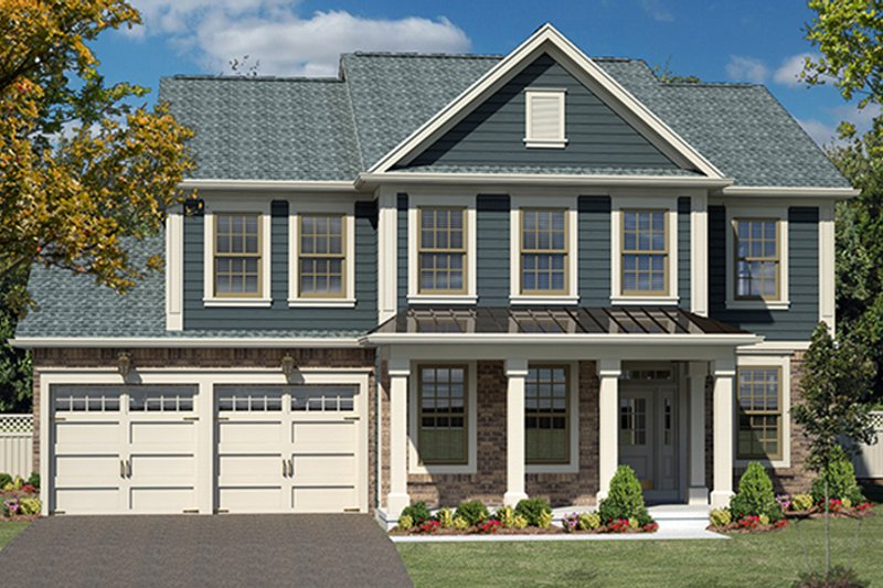 Colonial Exterior - Front Elevation Plan #316-279 - Houseplans.com