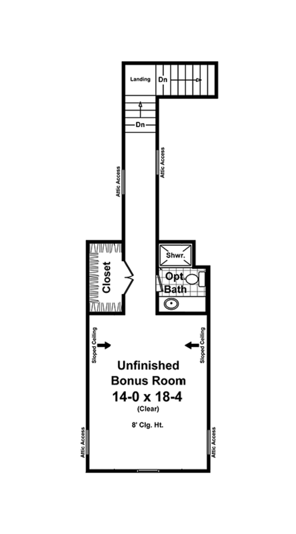 Craftsman Floor Plan - Other Floor Plan Plan #21-438