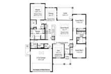 Country Floor Plan - Main Floor Plan Plan #938-31