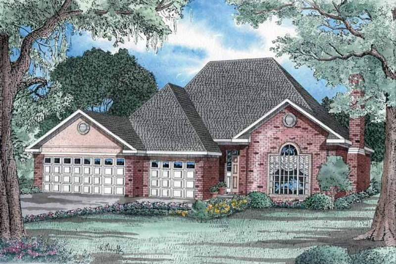 Country Exterior - Front Elevation Plan #17-2707