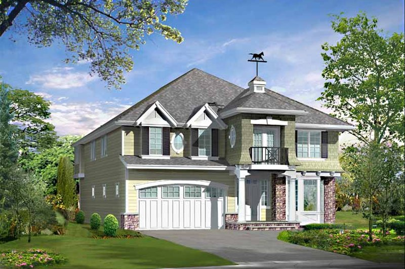 Craftsman Exterior - Front Elevation Plan #132-421 - Houseplans.com