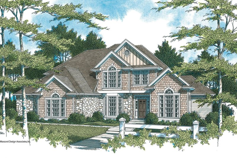 Traditional Style House Plan - 3 Beds 2.5 Baths 2803 Sq/Ft Plan #48-159 Exterior - Front Elevation