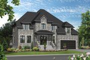 Traditional Style House Plan - 4 Beds 2 Baths 4122 Sq/Ft Plan #25-4632 Exterior - Front Elevation