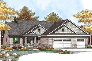 Craftsman Exterior - Front Elevation Plan #70-927