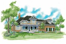 Country Exterior - Front Elevation Plan #930-229