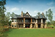 European Style House Plan - 4 Beds 4 Baths 4693 Sq/Ft Plan #929-892 Exterior - Rear Elevation