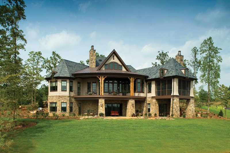 European Exterior - Rear Elevation Plan #929-892 - Houseplans.com