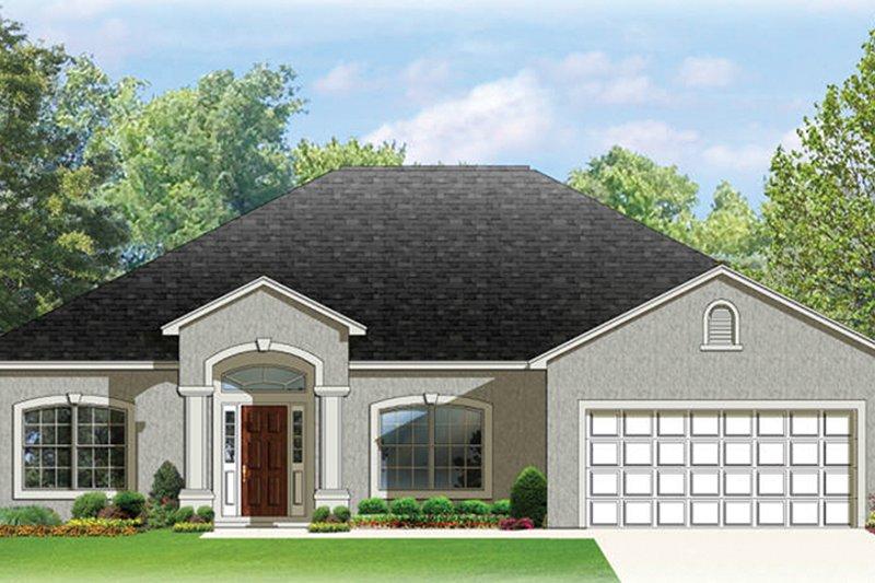 House Plan Design - Mediterranean Exterior - Front Elevation Plan #1058-77