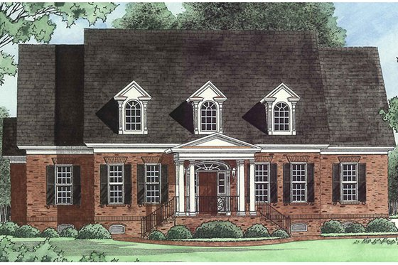 Traditional Exterior - Front Elevation Plan #1054-20