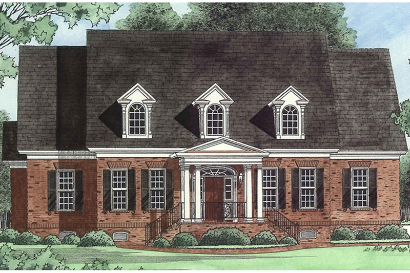 Country Exterior - Front Elevation Plan #1054-20