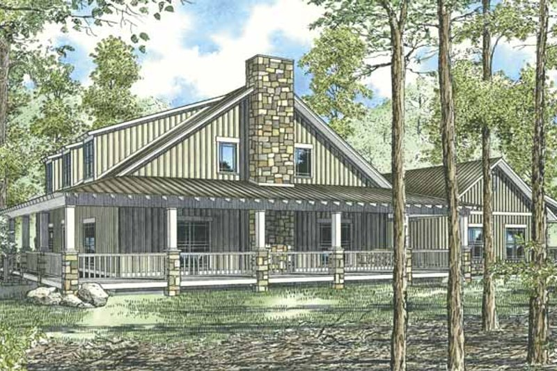 Home Plan - Country Exterior - Front Elevation Plan #17-2917