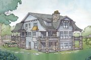 Colonial Style House Plan - 5 Beds 4.5 Baths 4852 Sq/Ft Plan #928-298 Exterior - Rear Elevation