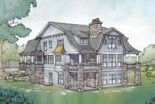 Colonial Exterior - Rear Elevation Plan #928-298