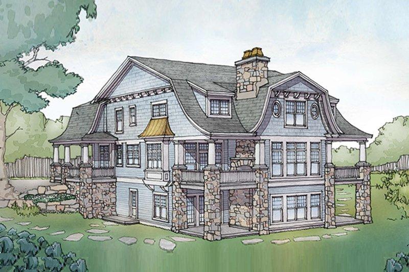 Colonial Exterior - Rear Elevation Plan #928-298 - Houseplans.com