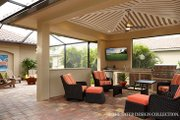 Mediterranean Style House Plan - 3 Beds 4.5 Baths 3394 Sq/Ft Plan #930-457 Exterior - Outdoor Living