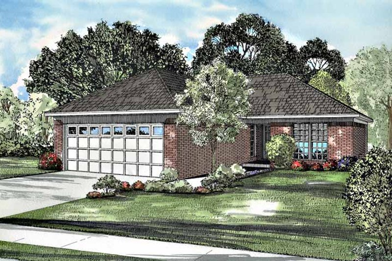 Ranch Exterior - Front Elevation Plan #17-3053