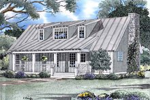 Country Exterior - Front Elevation Plan #17-3177