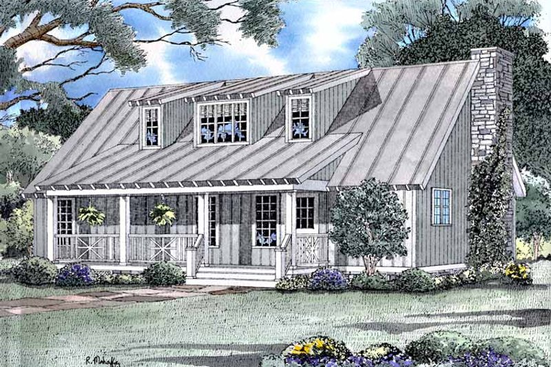 Dream House Plan - Country Exterior - Front Elevation Plan #17-3177