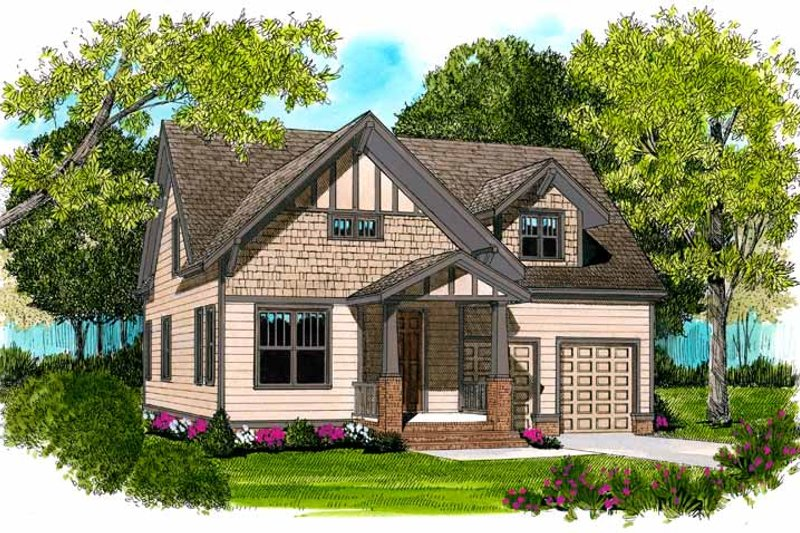 Craftsman Exterior - Front Elevation Plan #413-895