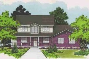 Country Exterior - Front Elevation Plan #308-139