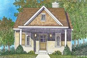 Cottage Style House Plan - 1 Beds 1 Baths 672 Sq/Ft Plan #22-590 Exterior - Front Elevation