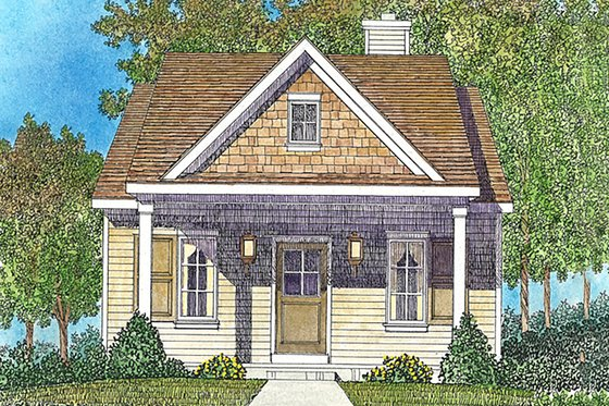 House Blueprint - Cottage Exterior - Front Elevation Plan #22-590