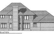 Prairie Style House Plan - 4 Beds 3.5 Baths 3070 Sq/Ft Plan #70-481 Exterior - Rear Elevation