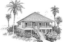 Dream House Plan - Beach Exterior - Front Elevation Plan #37-135