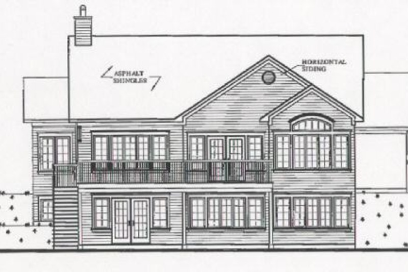 Traditional Exterior - Other Elevation Plan #23-2068 - Houseplans.com