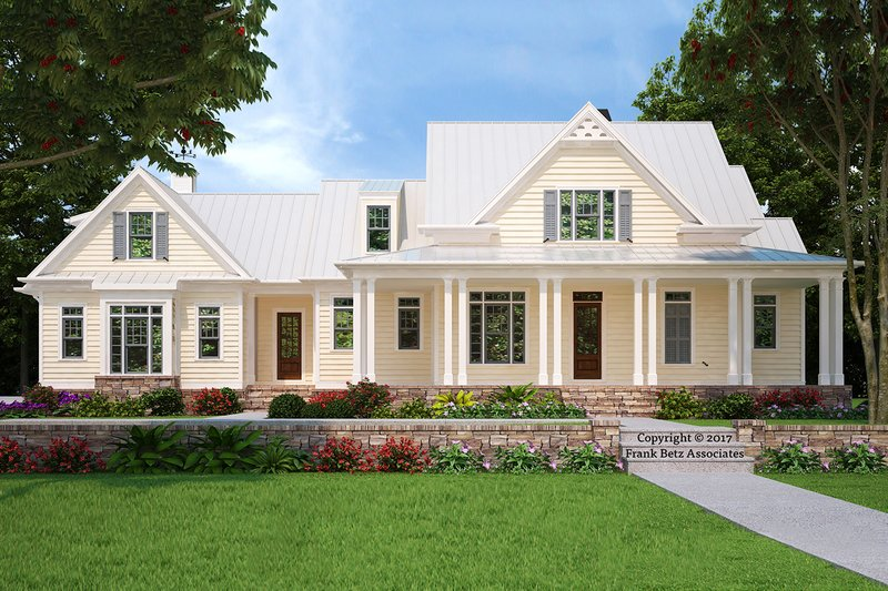 Farmhouse Exterior - Front Elevation Plan #927-988