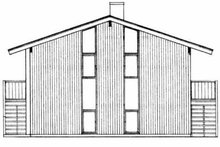 Modern Exterior - Rear Elevation Plan #72-350