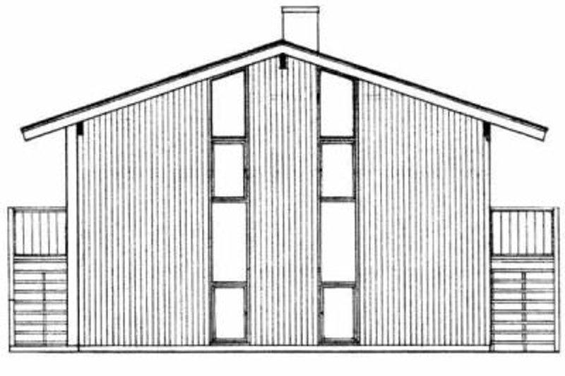 Modern Exterior - Rear Elevation Plan #72-350 - Houseplans.com