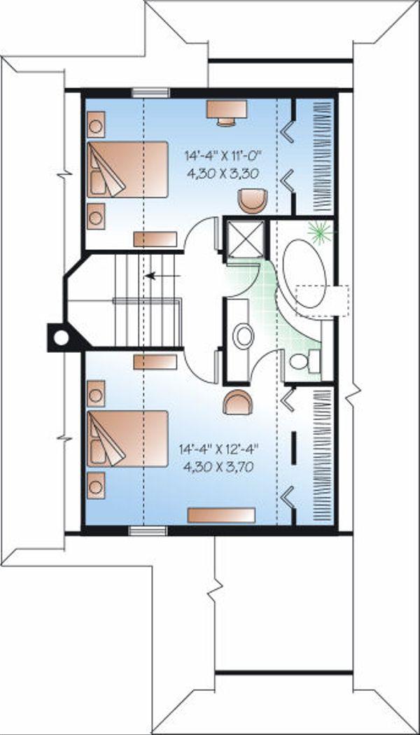 Beach Floor Plan - Upper Floor Plan Plan #23-866