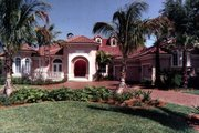 Mediterranean Style House Plan - 4 Beds 5 Baths 3873 Sq/Ft Plan #115-108 Exterior - Front Elevation