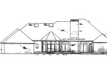 Home Plan - European Exterior - Rear Elevation Plan #310-433