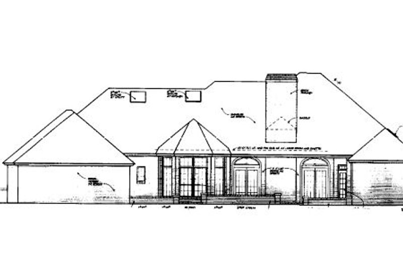 European Exterior - Rear Elevation Plan #310-433 - Houseplans.com