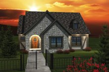 Dream House Plan - Cottage Exterior - Front Elevation Plan #70-1074