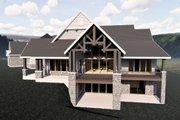 Craftsman Style House Plan - 6 Beds 6 Baths 7798 Sq/Ft Plan #920-98 Exterior - Rear Elevation