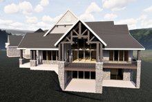 House Plan Design - Craftsman Exterior - Rear Elevation Plan #920-98