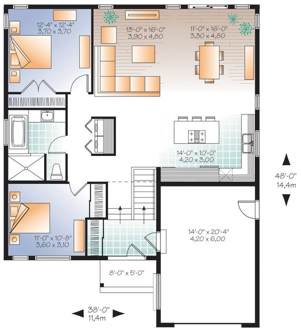 Craftsman Floor Plan - Main Floor Plan Plan #23-2304
