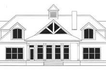 Southern Exterior - Rear Elevation Plan #406-262