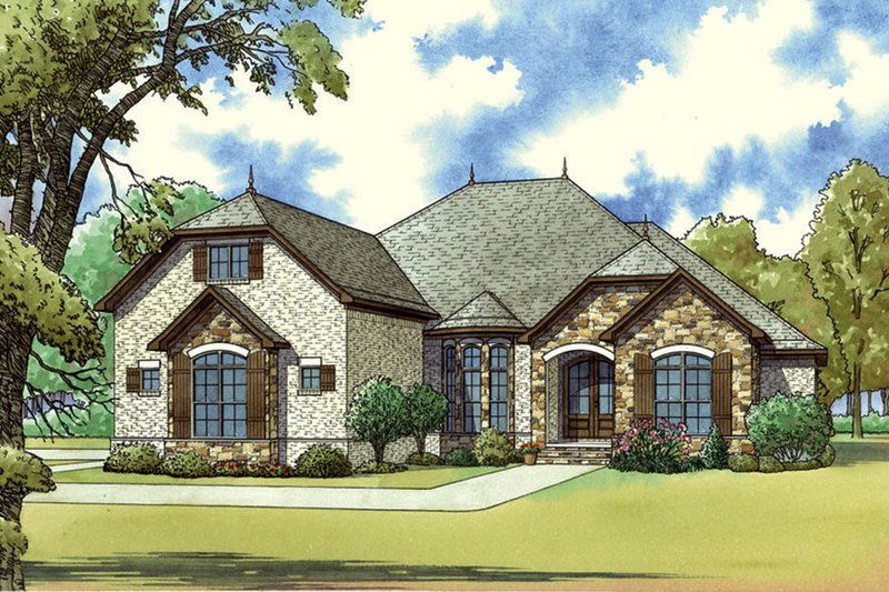 Architectural House Design - European Exterior - Front Elevation Plan #923-59