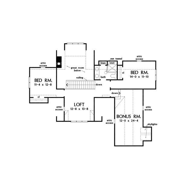 Home Plan - Farmhouse Floor Plan - Upper Floor Plan #929-1131