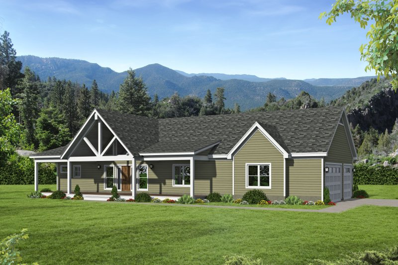 Country Style House Plan - 2 Beds 2 Baths 1650 Sq/Ft Plan #932-60