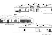 Adobe / Southwestern Style House Plan - 4 Beds 2.5 Baths 3514 Sq/Ft Plan #1-843 Exterior - Rear Elevation